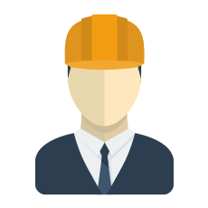 Business Man with a Hard Hat Icon